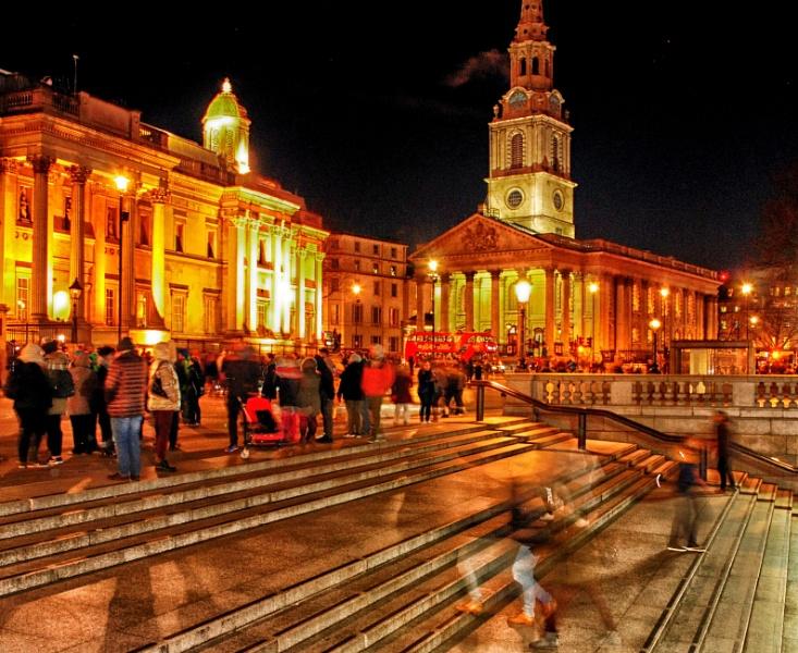 Tourists at Trafalgar