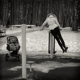 swinging mom
