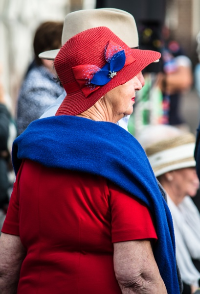 Lady in red and blue by joop_