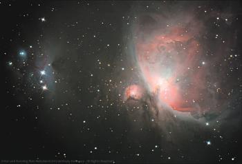 Orion and Running Man Nebulae