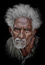 old man of Jodhpur by sawsengee