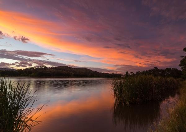 Summer sunset, Lake Tuggeranong, Canberra by BobinAus