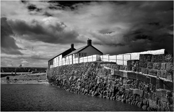 Harbour Wall, Lyme Regis by BigAlKabMan