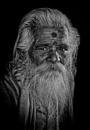 old pilgrim in Rishikesh by sawsengee