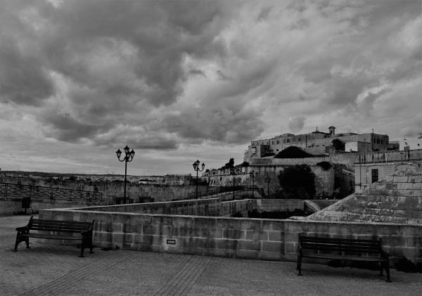 Bastions against menacing sky by KingArthur