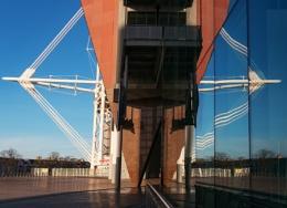 Stadium reflections.