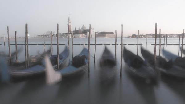Gondolas at St Marks Square by Dixxipix