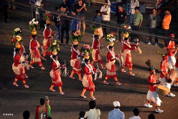 Durga Puja Immersion (Visarjan) Procession On Dashami. by debu