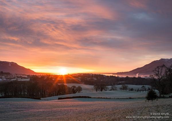 Frosty Morning Sunrise by Porthos
