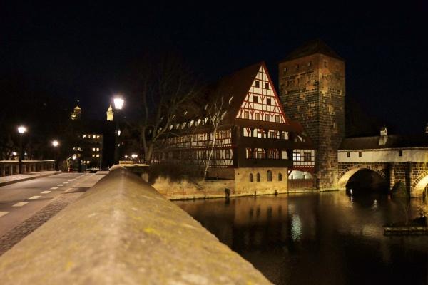 Nuremberg at night.