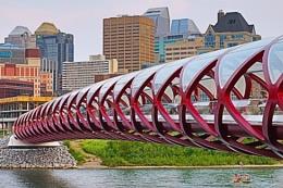 Calgary`s peace bridge