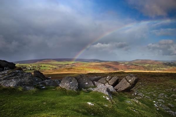 Haytor Rainbow by Les_Cornwell