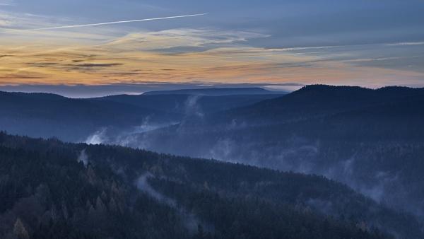 Morning mist in Saxon Switzerland