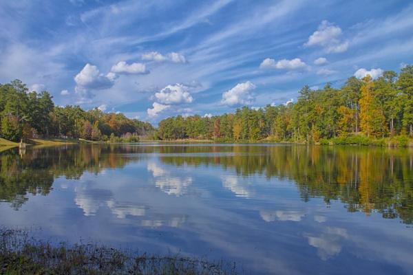 A Sunny Fall Reflection by ThomasVasasPhotography