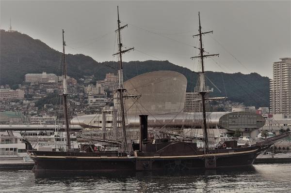 JAPAN - Ship in Nagasaki Port by PentaxBro