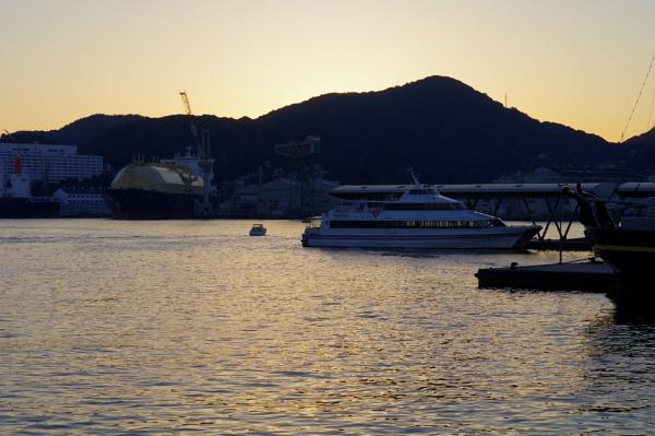 JAPAN- Nagasaki Sea-Port Sunset by PentaxBro