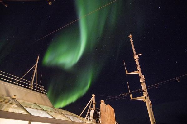 Aurora over MS Finnmark by videocass