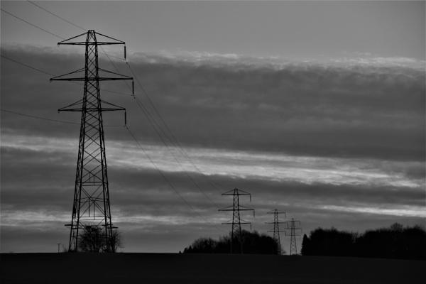 Elactricity Pylons by magsyuk