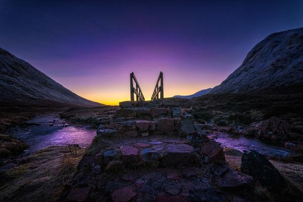 purple bridge by meyeview