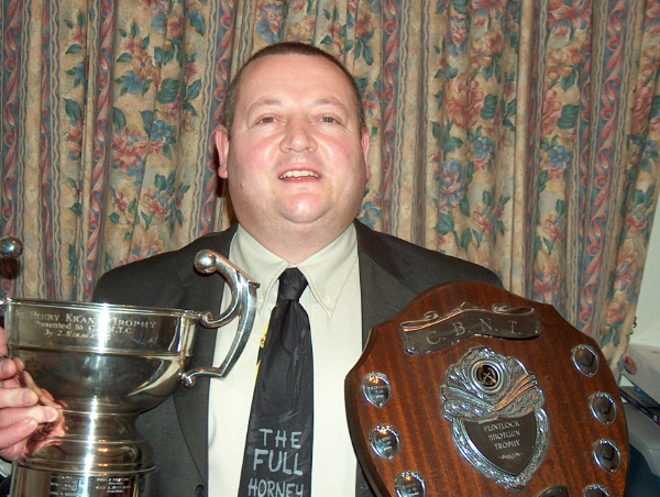 Me with the trophys I won for Muzzel Loader Shooting (Rifle, Pistol, Shotgun & Musket) by YoungGrandad