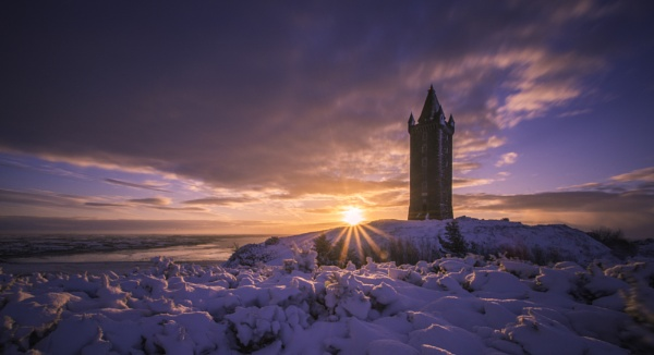 Scrabo Tower Sunrise by JonnyNI