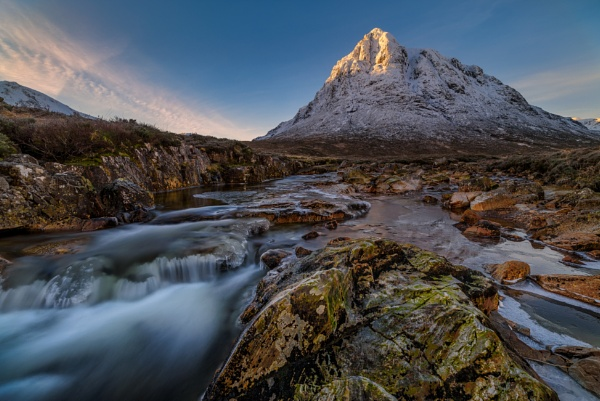 The Sun kissed Mountain by douglasR