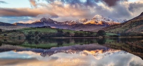 Snowdon Range from Llynnau Mymbyr