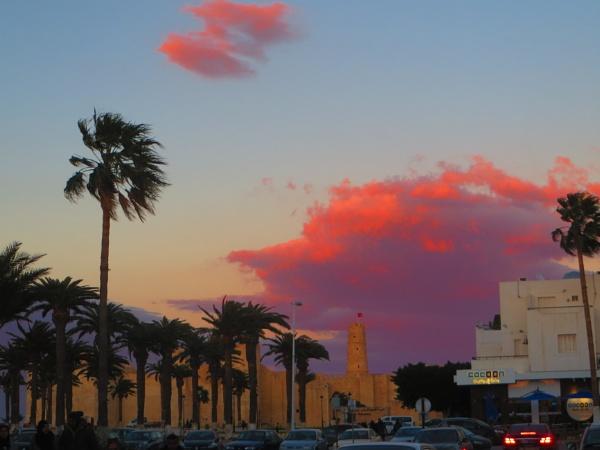 redness at sunset