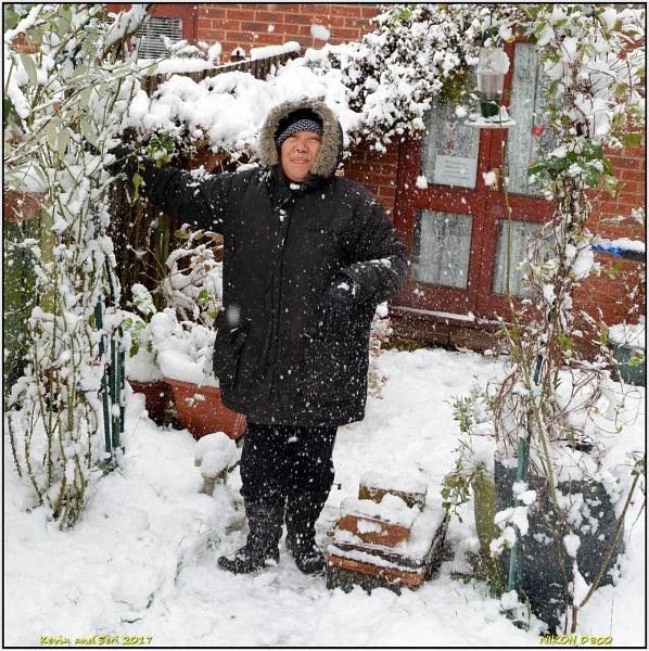 Seri in the snow. by KevinandSeri