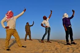Selfie in the desert