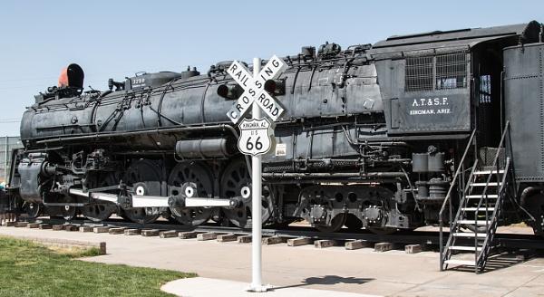 Railway at Kingman AZ on route 66 by Janetdinah