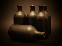 5 dusty bottles