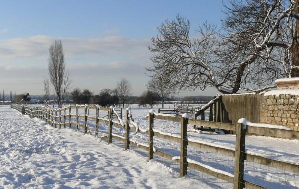 snow in winter by jimlad