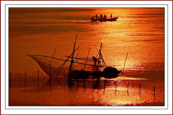 Golden Morning over River Damodar