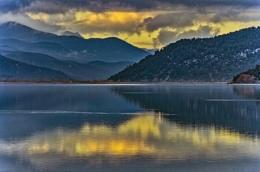 Lake Kovoda after Sunset