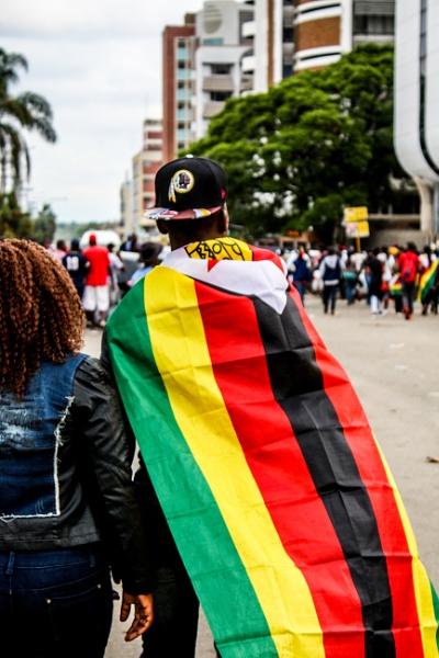 Zimbabwean Flag Harare CBD #263 by dresnaps
