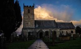 Church at dusk