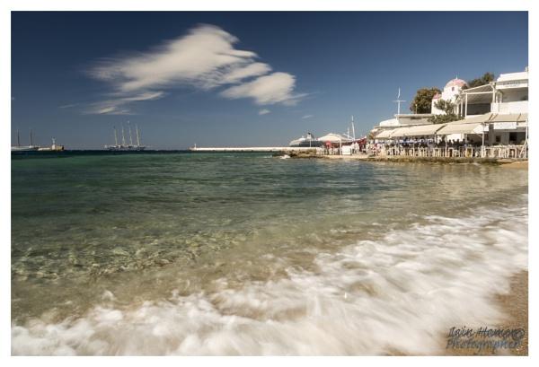 Mykonos Town bay and sailing ship by IainHamer