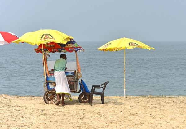 ice cream vendor, Kerala, India by Steelpins