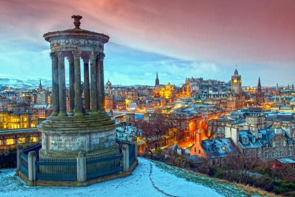 Sunrise Over Edinburgh by mmart