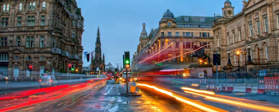 Rush Hour In Edinburgh