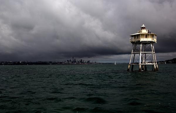 Bean Rock Lighthouse, Auckland. NZ by sandwedge