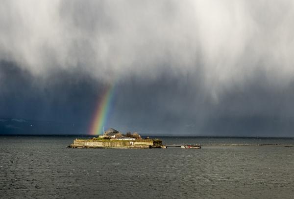 Munkholmen battery Rainbow by videocass