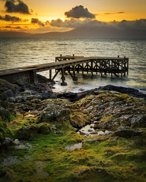 Portencross Pier Sunset. by Mark_Callander