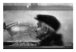 Man on a Tram .. Budapest