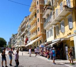 More buildings in Corfu.