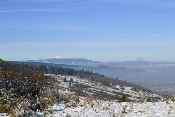 Snowy landscape in Slovakia. by Laslo