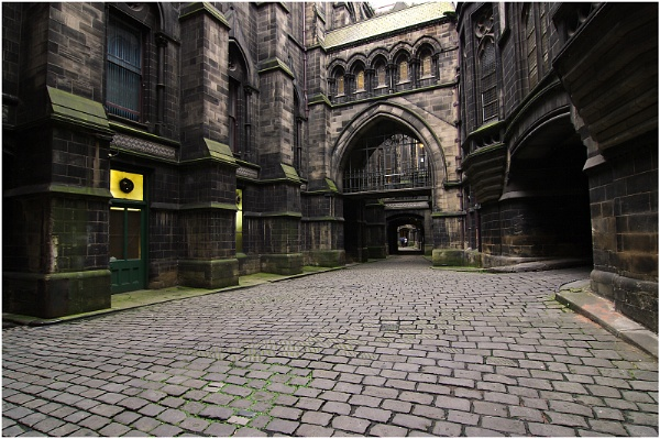 Courtyard at Manchester Town Hall