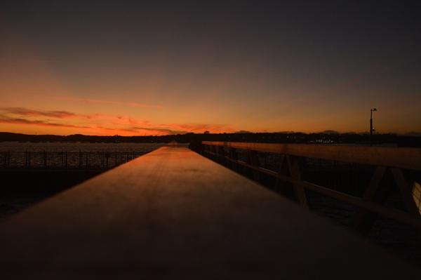 Sunset from Cornwall Beach pontoon.