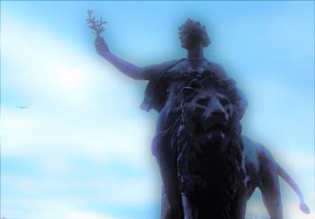 Statue on Trafalgar Square London